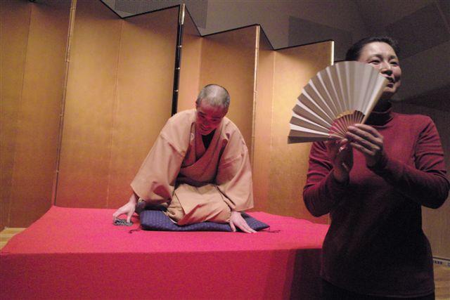 第40回二つ目ファイナル「志遊の会」で挨拶する立川志遊師匠