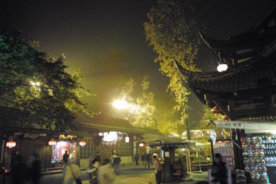 ホテルは武候司の直ぐ前、遅い夕食の後、少し街を散策した。