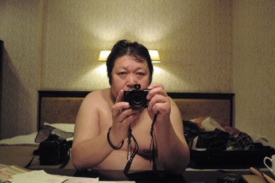 12月13日。この間、死を何度か意識したときもあり、風呂上りに自写像を思わず撮る。きも~いなんて笑わないでくださいね。