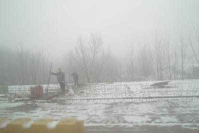 12月15日。西安から襄陽へ向かう途中、またもや吹雪に見舞われる。